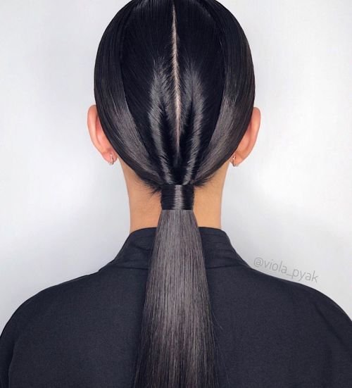 Strict Ponytail With A Twist