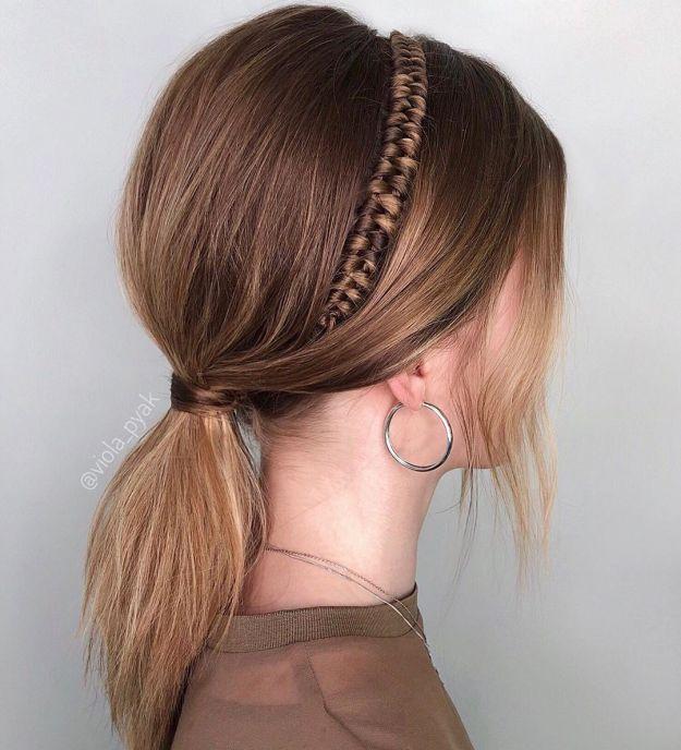 Low Pony And Infinity Braided Headband