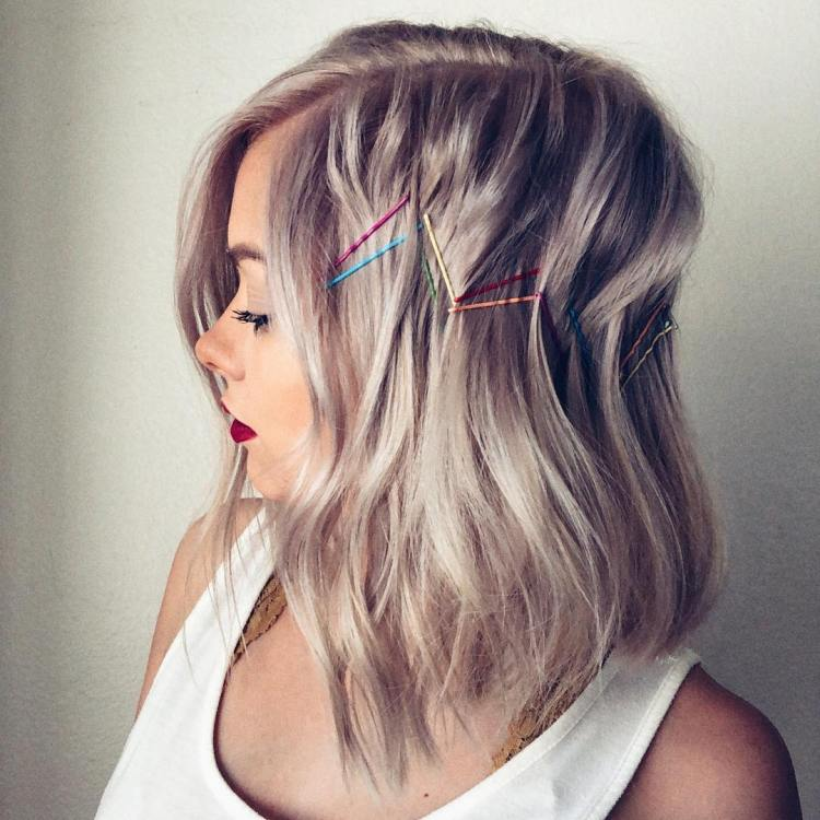 Festival Hair With Colored Bobby Pins
