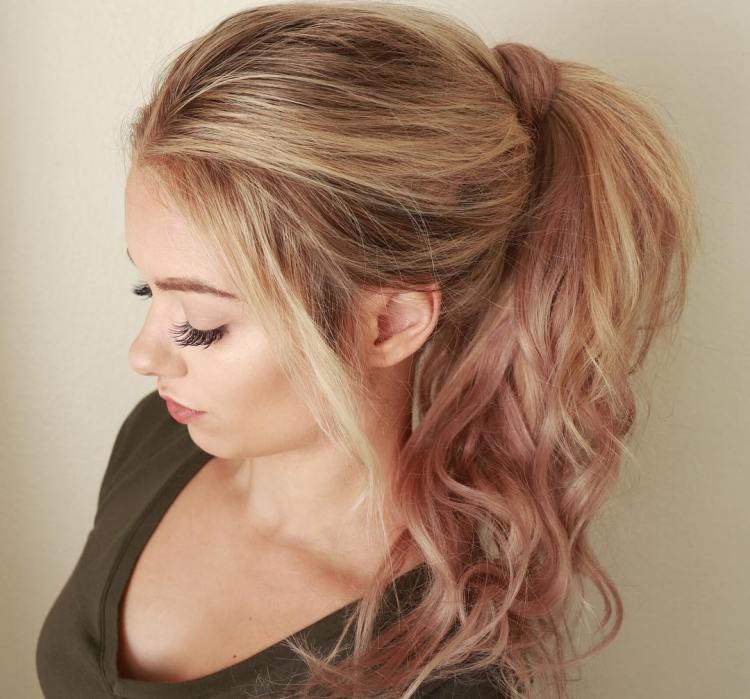 Rose Gold Barbie Ponytail