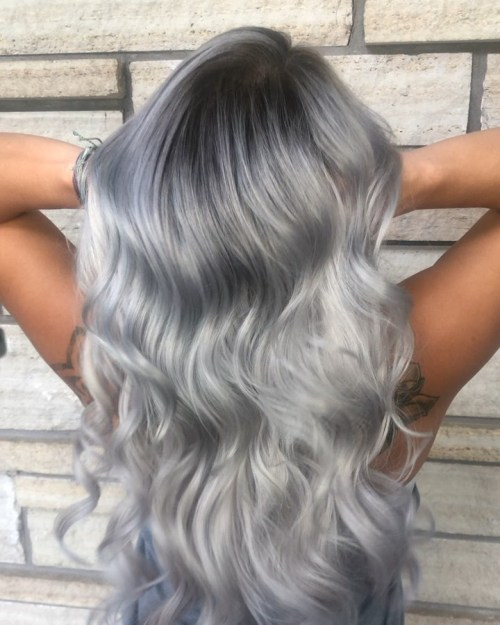 Silver Haircolor Autumn Trend