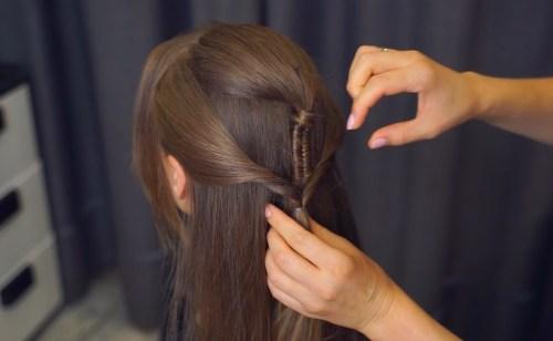 Pierced Ponytail: Step 3