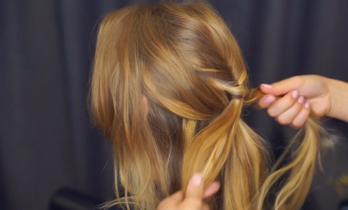 Pull-Through Braid: Step 4