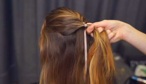 Ribbon Mohawk Braid: Step 2