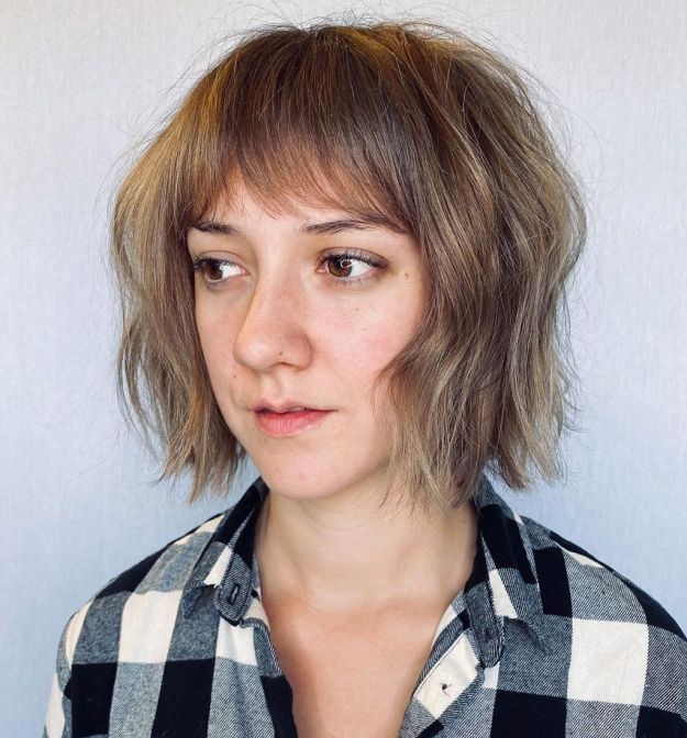 Cute Textured Bob With Waves