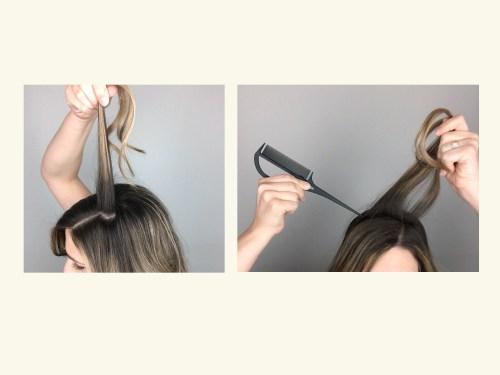 How To Tease Hair: Step 2