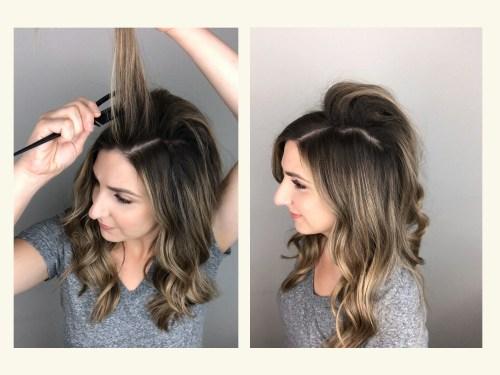 How To Tease Hair: Step 4