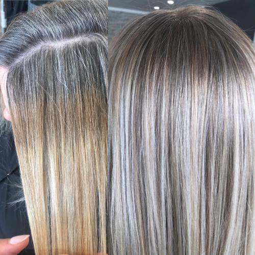 5 Ideas For Blending Gray Hair With Highlights And Lowlights