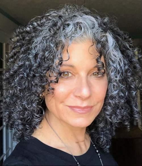 Moisturized Gray Curls