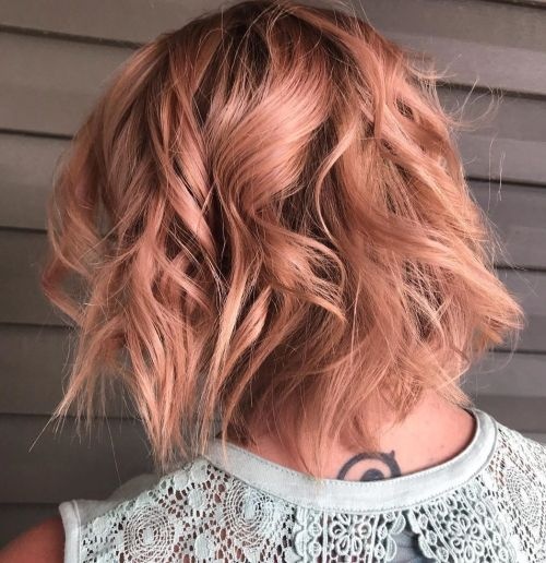 Rose Gold Peach Waves