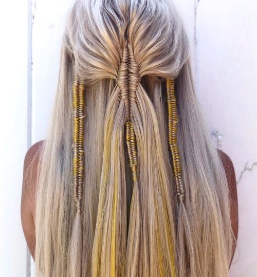 Infinity Braids With Golden Accent