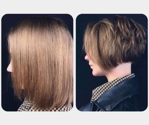 Hair Trim Before and After