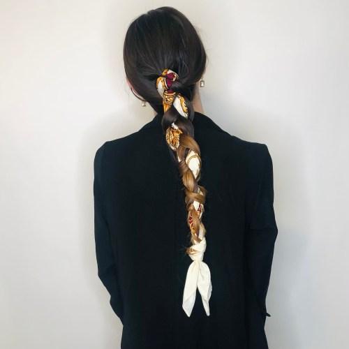 Braided-In Hair Scarf