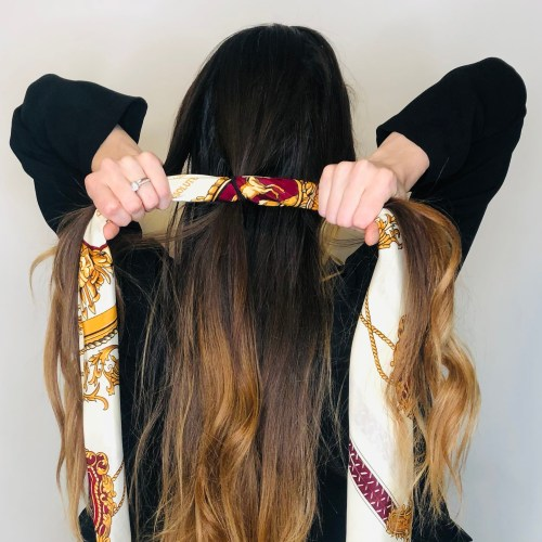 How to Braid Scarf into the Hair