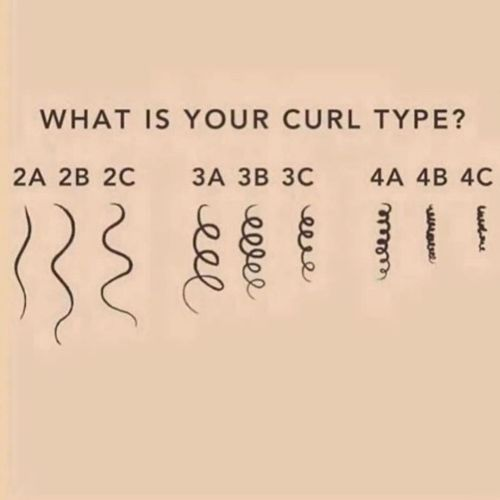 Curly Hair Types Chart
