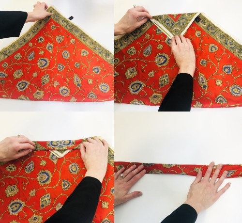 Steps to Fold a Scarf for a Hairstyle