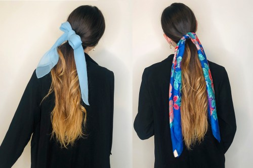 Ponytail with a Hair Scarf