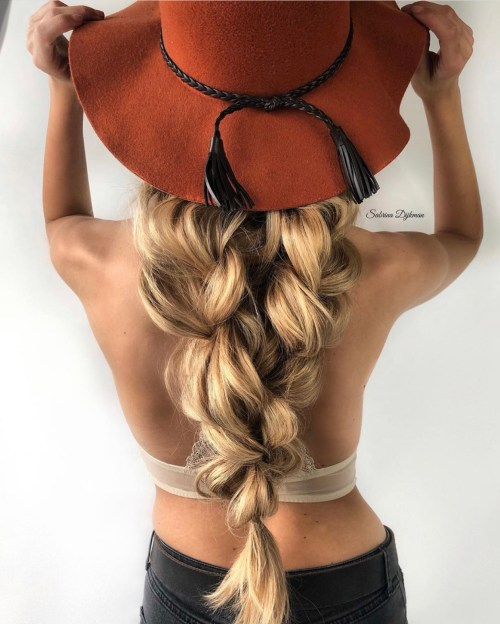 Bohemian Braided Ponytail