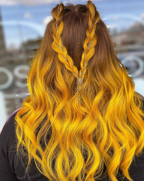 Mustard Yellow Ombre