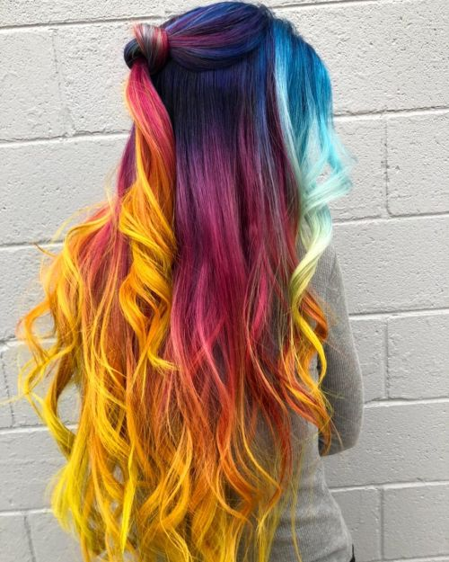 Unicorn Hair with Yellow Ombre