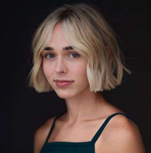 Dirty Blonde Bob with Light Blonde Face Framing