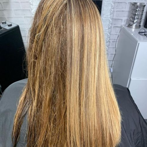 Tangled Hair Before and After Conditioning Treatment