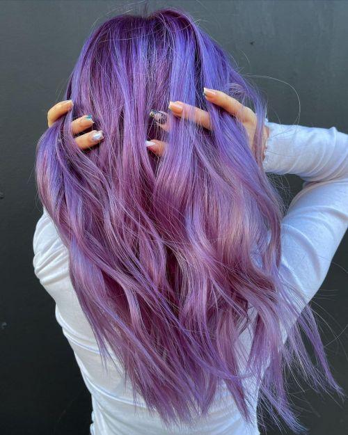 Light Blue Purple Hair