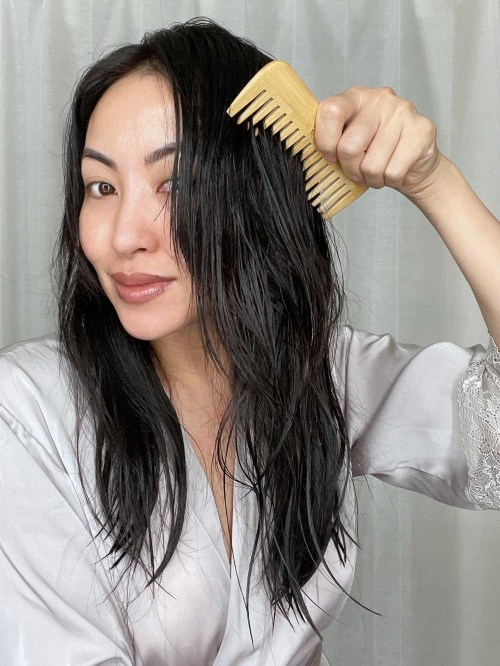 Brushing Hair with a Wide Tooth Comb