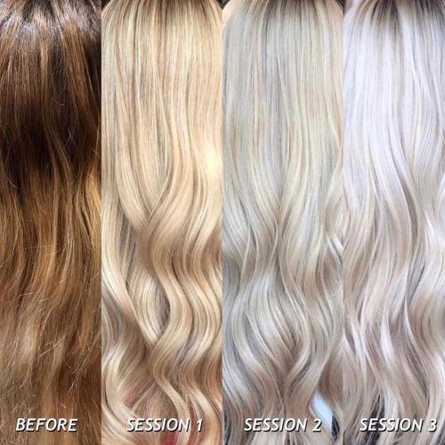 Dark to Light Hair Color Correction
