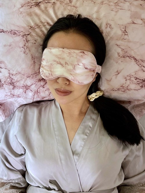 Sleeping on a Silk Pillowcase and With a Silken Hair Tie to Prevent Damage