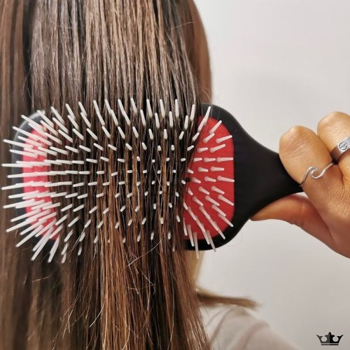 Brushing Hair with a Nylon Bristle Brush