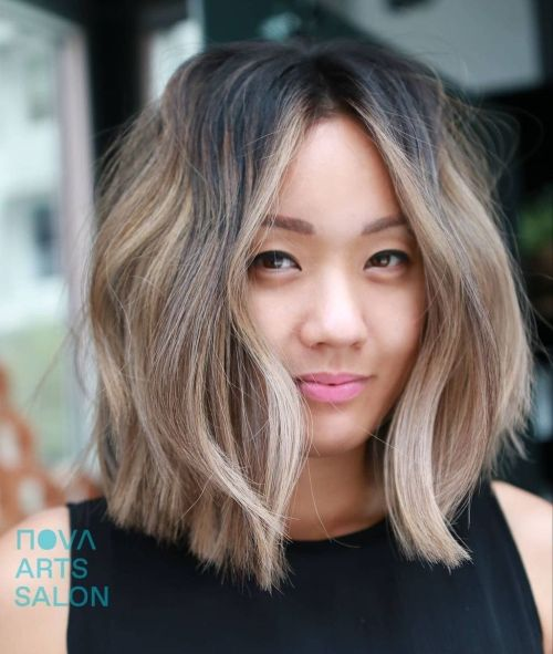 Trendy Middle Parting Haircut