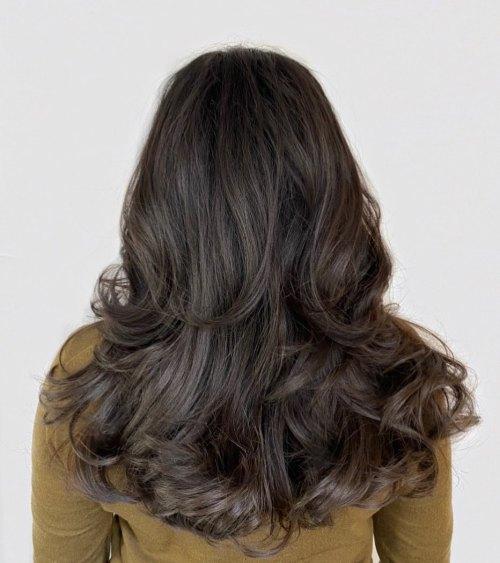 Long Layers On Coarse Hair
