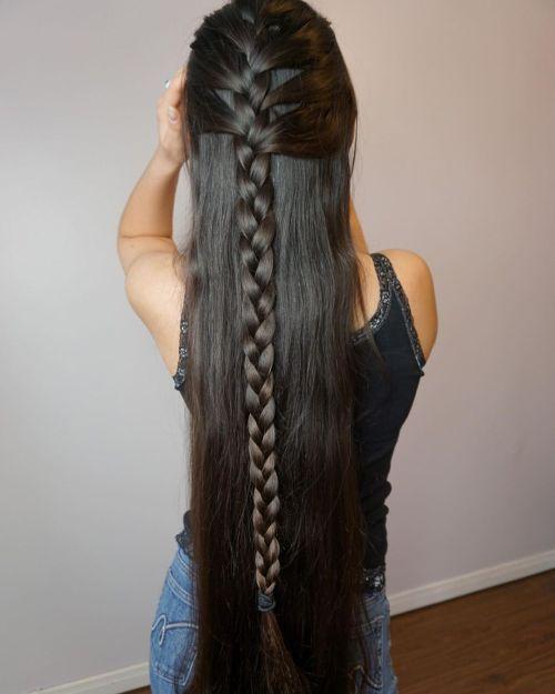 Long Healthy and Shiny Hair