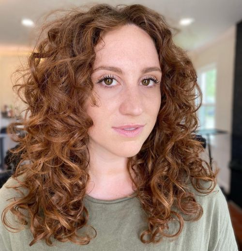Chestnut Hair Color on Naturally Curly Hair