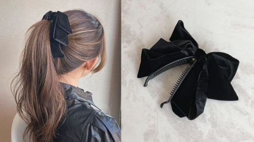 Beautiful Ponytail Hairstyle with a Clip