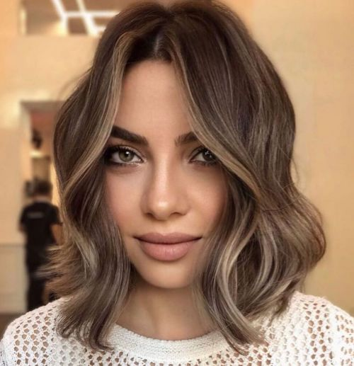Cool Brown Hair with Subtle Highlights