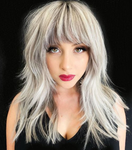 Rooted Ash Blonde and Platinum Hairstyle