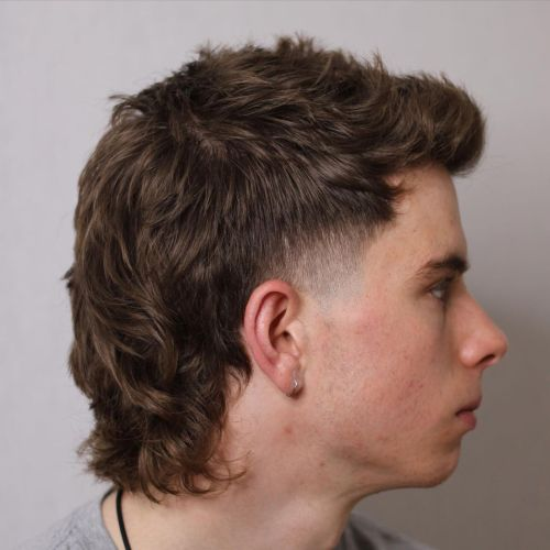 Mullet Haircut for Men with Wavy Hair