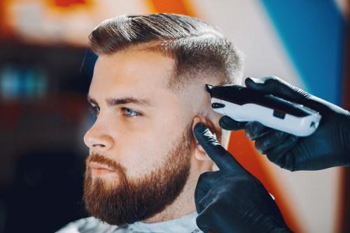 Men's Haircut with Bald Fade