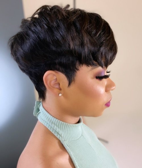 Black Hair with Chocolate Brown Highlights