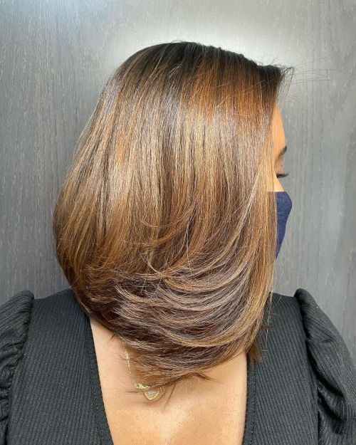 Brown Weave Hairstyle for Black Women