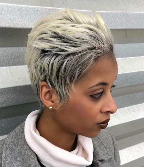 Platinum Blonde Hair Color for Black Girls