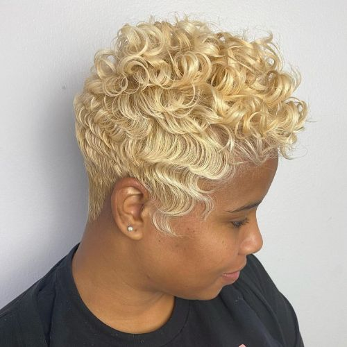 Black Woman with Blonde Hair Color