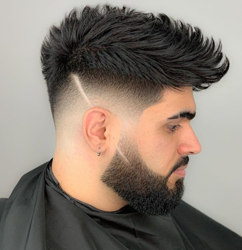 Men's Haircut With Shaved Sides