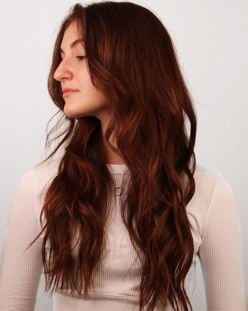 Long Dark Copper Hairstyle