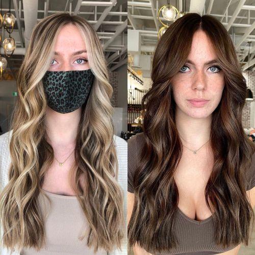 Colorindo cabelo loiro marrom quente