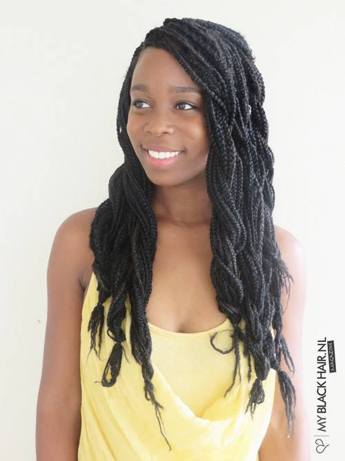 how to style braided hair