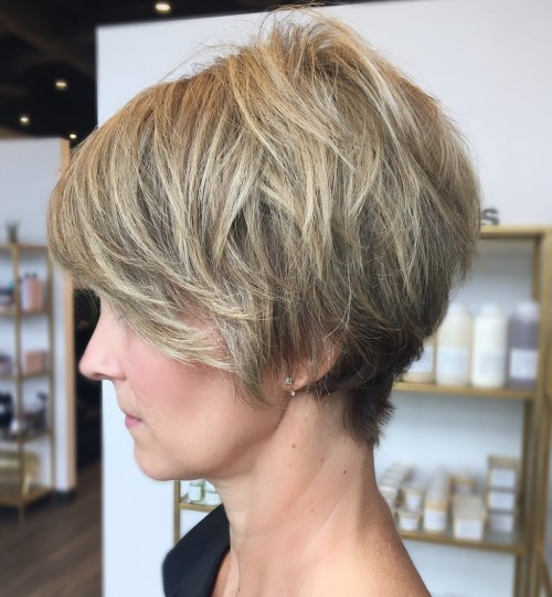 Over 40 Chopy Pixie With Highlights