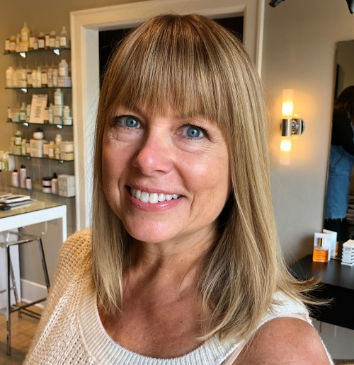 Over 40 Lob With Bangs For Square Face